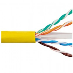 ICC - ICCABP6EYL - Cat 6E, 600 UTP, Solid Cable, 23G, 4P, CMP, 1, 000 FT, Yellow