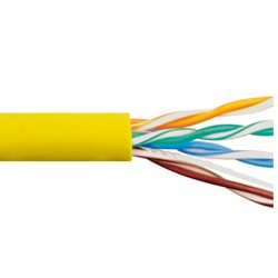 ICC - ICCABR5EYL - Cat 5E, 350 UTP, Solid Cable, 24G, 4P, CMR, 1, 000 FT, Yellow