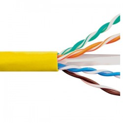 ICC - ICCABR6EYL - Cat 6E, 600 UTP, Solid Cable, 23G, 4P, CMR, 1, 000 FT, Yellow