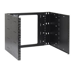 "ICC - ICCMSABRS8 - ICC EZ Fold Wall Mount Hinged Bracket, 15"" Deep 8 RMS - 8U Wide Wall Mountable for Patch Panel, LAN Switch - Black Powder Coat - Cold-rolled Steel (CRS) - 30 lb x Maximum Weight Capacity"