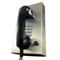 Cortelco - VR16SS - Wall Phone, Stainless Steel Body & Keypad, Armored Cord