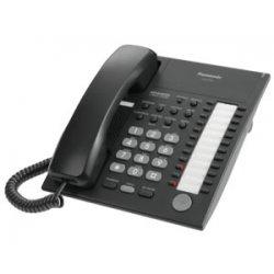 Panasonic - KX-T7720B - Panasonic KX-T7720B Hybrid System Corded Telephone - 12 x Phone Line(s) - 1 x Headset - Black