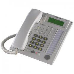 Panasonic - KX-T7736 - Panasonic KX-T7736 Corded Telephone - 12 x Phone Line(s) - 1 x Headset - White