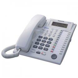 Panasonic - KX-T7737 - Panasonic KX-T7737 Corded Telephone - 12 x Phone Line(s) - 1 x Headset