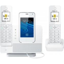 Panasonic - KX-PRD262W - Panasonic Link2Cell KX-PRD262W DECT 6.0 1.93 GHz Cordless Phone - White - Cordless - 984.25 ft Range