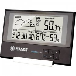 Meade Instruments - TE346W - Slim Line Station with Time/Temp/Forecas