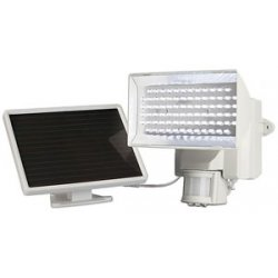 Maxsa - 40225-L - MAXSA(R) Innovations 40225-L Solar-Powered 80-LED Motion-Activated Outdoor Security Floodlight (White)