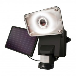 Maxsa - 44642-CAM-BK - MAXSA(R) Innovations 44642-CAM-BK Solar-Powered Security Video Camera & Floodlight