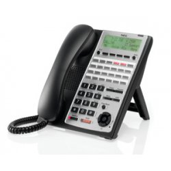 NEC - 1100161 - NEC IP Phone - Cable - Wall Mountable - Black - 1 x Total Line - VoIP - Speakerphone - 2 x Network (RJ-45)