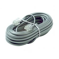 Steren Electronics - 306-025SL - 6C 25' Silver Modular Line Cord