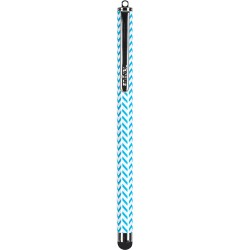 Targus - AMM01B23US - Targus Patterned Stylus (Blue Chevron) AMM01B23US - Rubber - Blue - Smartphone, Tablet Device Supported - Capacitive Touchscreen Type Supported