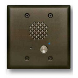 Viking - E-60-BN - Oil Rubbed Bronze Entry Phone with Automatic Disconnect & Blue LED, Flush Mounts in a Double Gang Box or Surface Mount with an Optional VE-5x5