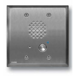 Viking - E-60-SS - Stainless Steel Entry Phone with Automatic Disconnect & Blue LED, Flush Mounts in a Double Gang Box or Surface Mount with an Optional VE-5x5