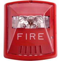 Wheelock - STR - Str, Red, 2w, Wall, 12/ 24v, 8cd