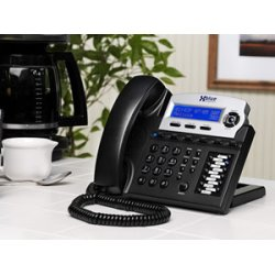 XBlue Networks - XB1670-00 - XBlue X16 IP Phone - Cable - Desktop - Charcoal - 6 x Total Line - VoIP - Caller ID - Speakerphone