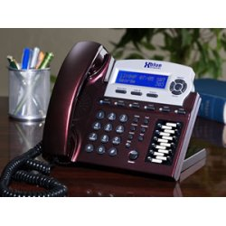 XBlue Networks - 1670-76 - XBlue X16 Standard Phone - Red Mahogany - Corded - 6 x Phone Line - Speakerphone