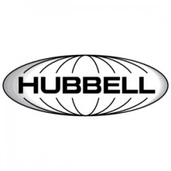 Hubbell - NSP106GY - Multimedia Wall Plate, Midsize, Rear-Loading, 1 Gang, 6 Port, Gray