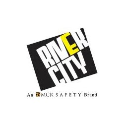 "River City - V211R - Polyester Mesh Safety Vest Orange 3/4""lime Strip"