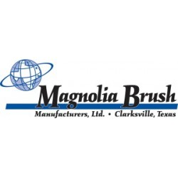 "Magnolia Brush - 3524LH - 24"" Brown Plastic & Silver Flagged Tip Floor Bru"