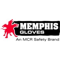 Memphis Glove - 1417A - Large Full Leather Backglove Blue Fabric