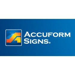 Accuform Signs - XX102 - Exit Sign Exit W/arrow 10 In H X 14 In W .055 Gauge Polyethylene White On Red, Ea