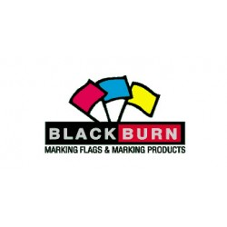 Blackburn Mfg - 4518 POLKD YL/BLK - Flag 18in Wire/ Polka Dot Black On Yellow 4x5 Vinyl Blackburn, Pk