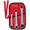 Proto - J1190B - Ratcheting Wrench Set, Double Box End, SAE, Number of Pieces: 3