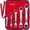 Proto - J1180A - Ratcheting Wrench Set, Double Box End, SAE, Number of Pieces: 5