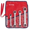 Proto - J1190MA - Ratcheting Wrench Set, Double Box End, Metric, Number of Pieces: 5