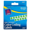 """Other - 5791 - Avery Permanent Self-Adhesive Green Dot Labels, 1/4"""" Dia., 450/Pkg"""