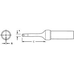 Weller / Cooper Tools - PTR8 - 1/16' Narrow Screwdriver Soldering Tip, 800