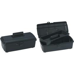 Flambeau - 14800-2C - Copolymer Portable Tool Box, 5-1/4H x 14-1/2W x 7-1/2, Black