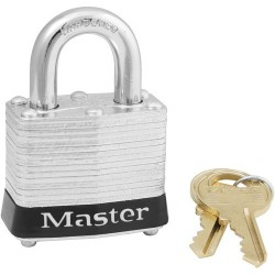 Master Lock - 3BLK - Black Lockout Padlock, Different Key Type, Master Keyed: No, Steel Body Material