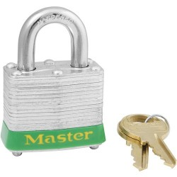 Master Lock - 3GRN - Green Lockout Padlock, Different Key Type, Master Keyed: No, Steel Body Material