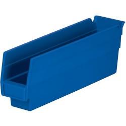 Akro-Mils / Myers Industries - 30-110 - 12 Shelf Bins, Blue, OD 11-5/8 L x 2-3/4 W, 24/Carton