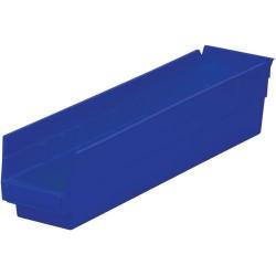 Akro-Mils / Myers Industries - 30-128 - 18 Shelf Bins, Blue, OD 17-7/8 L x 4-1/8 W, 12/Carton
