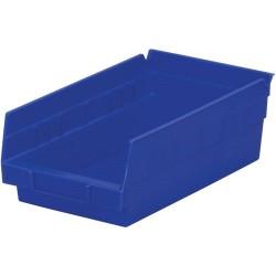 Akro-Mils / Myers Industries - 30-130 - 12 Shelf Bins, Blue, OD 11-5/8 L x 6-5/8 W, 12/Carton
