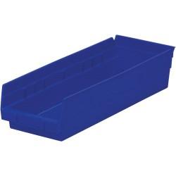 Akro-Mils / Myers Industries - 30-138 - 18 Shelf Bins, Blue, OD 17-7/8 L x 6-5/8 W, 12/Carton