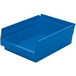 Akro-Mils / Myers Industries - 30-150 - 12 Shelf Bins, Blue, OD 11-5/8 L x 8-3/8 W, 12/Carton