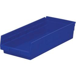 Akro-Mils / Myers Industries - 30-158 - 18 Shelf Bins, Blue, OD 17-7/8 L x 8-3/8 W, 12/Carton