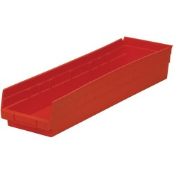 Akro-Mils / Myers Industries - 30-164 - 24 Shelf Bins, Blue, OD 23-5/8 L x 6-5/8 W, 6/Carton