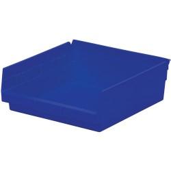 Akro-Mils / Myers Industries - 30-170 - 12 Shelf Bins, Blue, OD 11-5/8 L x 11-1/8 W, 12/Carton