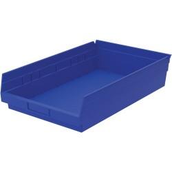 Akro-Mils / Myers Industries - 30-178 - 18 Shelf Bins, Blue, OD 17-7/8 L x 11-1/8 W, 12/ Carton