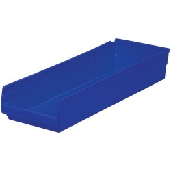 Akro-Mils / Myers Industries - 30-184 - 24 Shelf Bins, Blue, OD 23-5/8 L x 8-3/8 W, 6/Carton