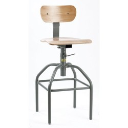 Bevco Precision - 1600 - Task Chair with 15-1/2 to 20-1/2 Seat Height Range and 300 lb. Weight Capacity, Maple