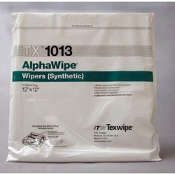 Texwipe - TX1013 - AlphaWipe 100% Continuous-Filament Polyester, 12 x 12, 75/Bag (MOQ=10)