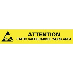 Desco - 06751 - Attention Static Work Area Bench Sign, 1 x 6