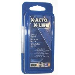 X-Acto / Hunt - X224 - #24 Deburring Blades, 5/Pkg