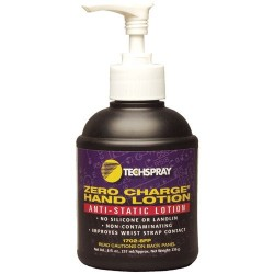 Techspray - 1702-8FP - ZERO CHARGE Anti-Static Hand Lotion, 8 oz Pump Bottle