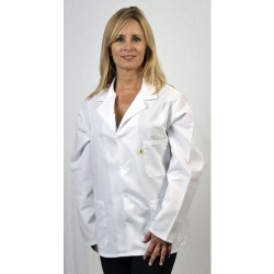 Tech Wear - 361ACQ-L - ESD-Safe Jacket, White, Size Large